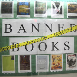 A display of banned books at Furr High School energized students to read them.