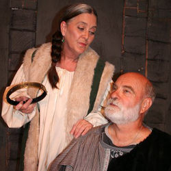 Lisa Schofield as Eleanor and Carl Masterson as Henry.