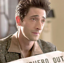 Real actor Adrien Brody struggles with an underwritten part.