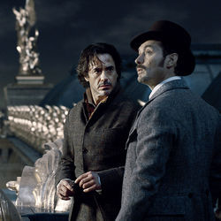 Holmes and Dr. Watson: Robert Downey Jr. and Jude Law.