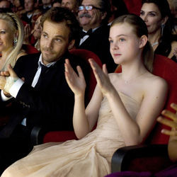 They don't say much: Stephen Dorff as Johnny and Elle Fanning as his daughter in Somewhere.
