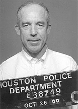 Hotze at his booking: He kept his license when a cop was a no-show.