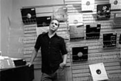 The sounds of silence: Chris Anderson, Houston's  house godfather, at his Chemistry Records.