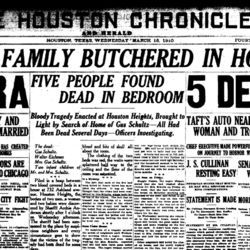 The headline of this March 16, 1910, Houston Chronicle extra says it all. The next day, the Chronicle proudly noted that this extra smashed all sales records to that date.