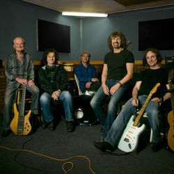 A recent photo of the Zombies, featuring founders Colin Blunstone (second from left) and Rod Argent (second from right).