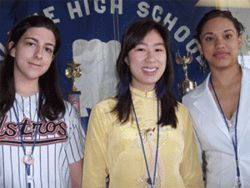 Aldine High students Gina Roberts, Tina Vo and Gaby Fernandez were surprised to learn that their school ranks among the best in the Houston area.