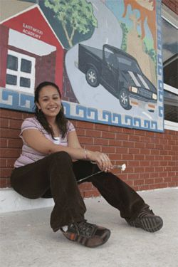 Arely Cervantes enjoys the intimate, family environment at Eastwood Academy.