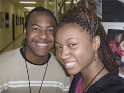 Trey Earnest and Miriam Heads are engineering students at Carver High School, a magnet program in Aldine ISD.