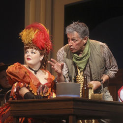 Kayla Brown and Mark Metcalf employ Texas accents in this The Comedy of Errors.