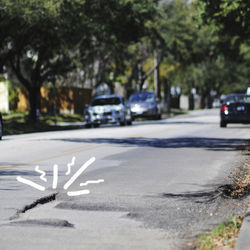 Greenbriar Drive between University and Holcombe boulevards is the third-worst pothole-laden stretch in Houston.