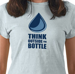 Think Outside the Bottle is a national organization trying to get people to kick bottled water and turn on the tap.