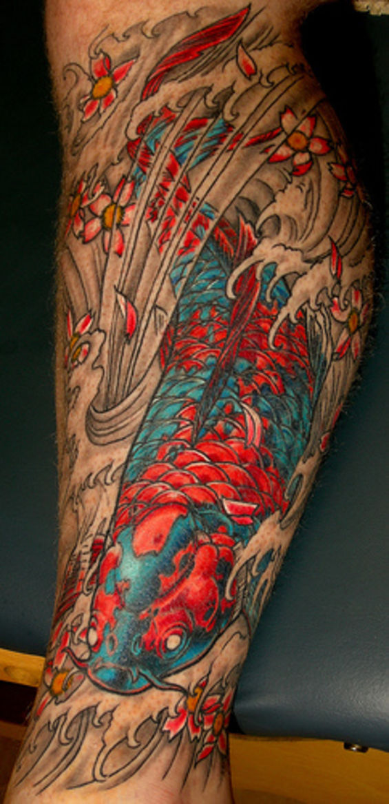 Houston's 10 Best Tattoos: Your Flesh & Ink. Carp with cherry blossoms.