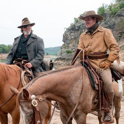 The windbag marshal and the upstanding, mildly pompous Texas Ranger: Jeff Bridges and Matt Damon.