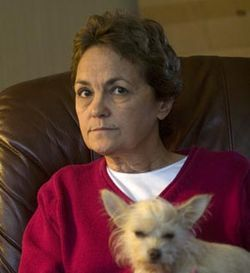 "Social worker Dee Dee Gregoire was one of 3,000 recently ""riffed"" by UTMB."