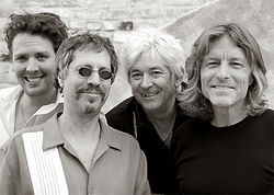 Ian McLagan (2nd from R) and the Bump Band