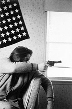 Kids those days: Larry Clark captures some innocent gunplay in 1960s Tulsa.