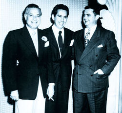 "Glory days: Balinese co-proprietor Salvatore ""Big Sam"" Maceo pals around with famed pianist Carmen Cavallaro and Galveston Mayor Herbie Cartwright."