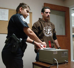 Fingerprinting is one of the last steps before a Cuban is released into the United States.