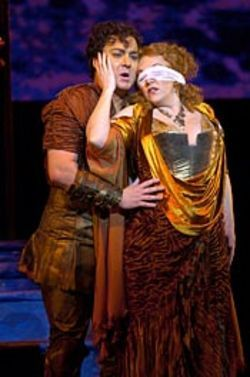 Succumbing to passion: Nico (Chad Shelton) and 