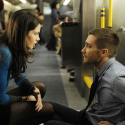 Captain Stevens (Jake Gyllenhaal with ­Michelle Monaghan) is part of a government experiment.