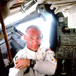 Buzz Aldrin is haunted by his privileged view of man's true scale in the cosmos.