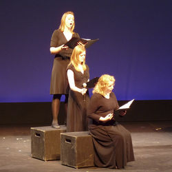 Opera Vista's main focus is its annual ­American Idol-style competition (here, Shannon Langman, Shelley Auer and Zina Hemingway perform).