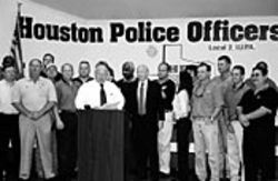 White snapped up the key endorsement of the  Houston Police Officers Association.