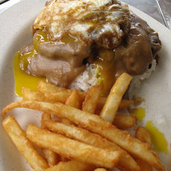 Loco moco is the Hawaiian version of soul food.