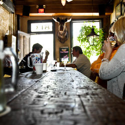La Carafe in downtown pulls in the regulars for its happy hour.
