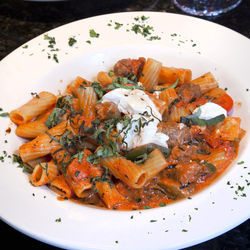 You'll come back for the rigatoni campagnolo.