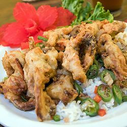 Try the terrific softshell crabs while they're still in season.