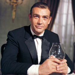 Sean Connery as the always dashing James Bond.