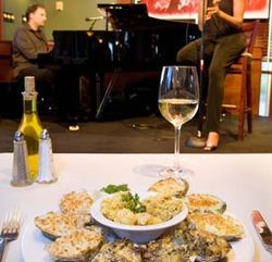 The oyster sampler plate pairs beautifully with a little jazz.