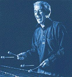 More than a handful: Harry Sheppard and his electrified vibraphone.