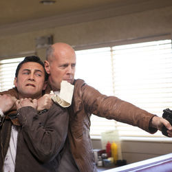Joe, and Joe 30 years later: Joseph Gordon-Levitt and Bruce Willis.