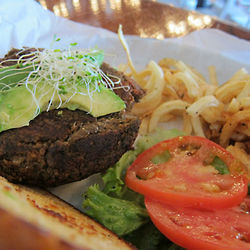 Quinoa and black bean burger at Adair Kitchen.