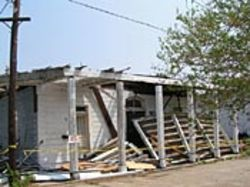 Michael Guidry's studio, after Katrina