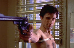 Here's looking at you kid. A young Robert DeNiro in  Taxi Driver.