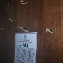 ...and Plake&#039;s bedroom door, while gunmen took him hostage in the control tower.