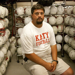 Justin Landers, head athletic trainer of Katy High School, thinks that the state's concussion law falls short, partially due to the win-hungry culture of Texas high school football.