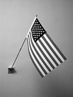 This may look like a typical parade flag, but Jonathan Seliger is known for making replicas of common objects.