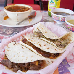Try the $2 tacos on fresh tortillas at the ­Cavalcade location.