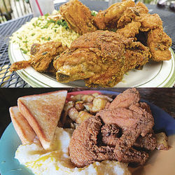 Al Aseel, above, and the breakfast klub, below, each offer their own takes on fried chicken.