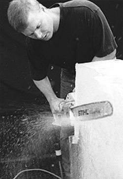 Bayousphere Artist at work: Don Henley, who runs an ice design business in northwest Houston, won the Absolut Winter Festival Ice Design Championship in Portland, Oregon, in February. He will be competing with brother Doug at the 2002 Winter Olympics in Provo, Utah. Ice carving has been an Olympic cultural event since 1982.