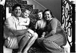 David and Clara Harris with their twin sons