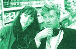 Lynch with writer/producer Mary Sweeney of The Straight Story.