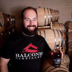 Balcones founder Chip Tate, highly regarded in the whiskey industry for creativity, doesn't do bourbon — he makes whiskey from blue corn.