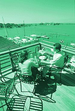 Like a brochure for the good life: Waterman's pretty deck.