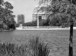 Molly Ann Smith Plaza in Hermann Park