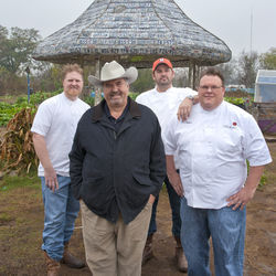 Foodways Texas is determined to preserve the Texas food history and culture. (L-r) Randy Evans, Robb Walsh, Bryan Caswell and Chris Shepherd.